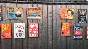 Sprücheposter an Festivalwand von City of Dance Middelburg