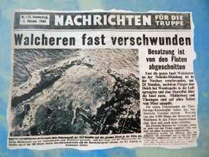 Zeitungsartikel zur Deichsprengung von Walcheren