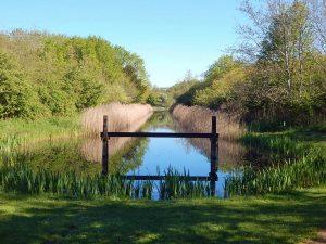Wassergraben in Oranjezon von Walcheren