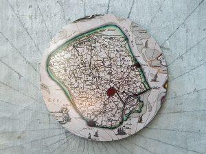 Insel Walcheren als historische Karte