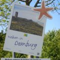 Touristisches Ortseingangsschild von Domburg