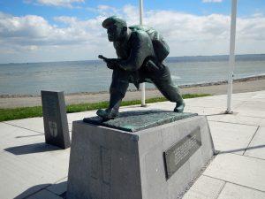 Statue: Soldat der Alliierten am Uncle-Beach in Vlissingen