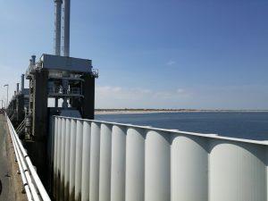 Details vom Schutzwehr zwischen Oosterschelde und Nordsee