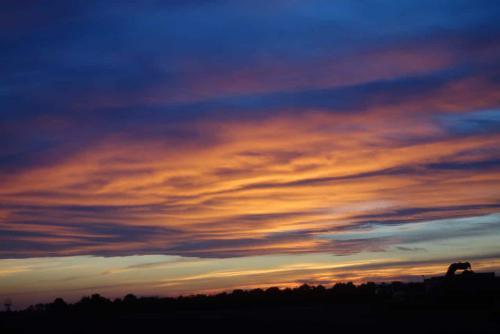 Stimmungsvoller Sonnenuntergang Walcheren